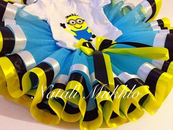 Minion tutu set, Minion birthday shirt, Minion birthday outfit, Despicable Me Minions Birthday Tutu Set